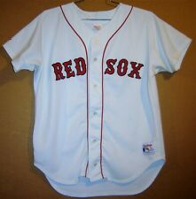 BOSTON RED SOX WHITE BUTTON-DOWN MLB JERSEY