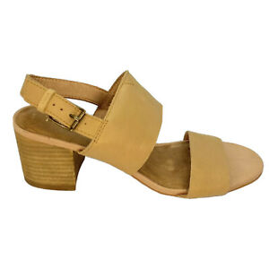 Toms Wedge Heels Women's Size 7 Beige Nude Leather Strappy New