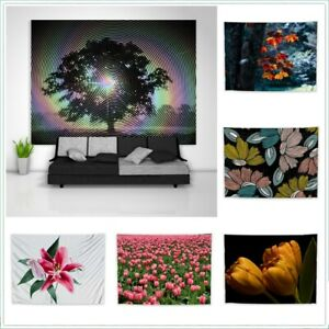 Flower Tree Leaves Plant Tapestry Wall Art Poster Hanging Cover
