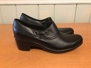 Clarks Black Gennette Danby Heels Bootie Size 7.5M