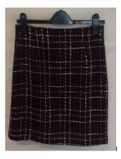 Wool Checked Business Skirts for Women