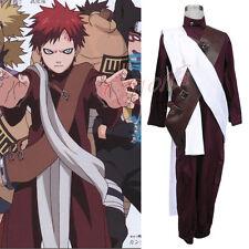 Cafiona Hot Anime Naruto Gaara Cosplay Costume Jumpsuits Halloween Headband Gift