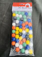 1 set 60 pieces Solid Color Marbles Chinese Checker Aggravation Wahoo Game 9/16""