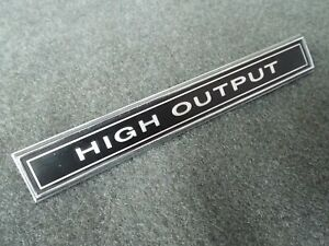 High Output Dash Emblem 1967-1969 1970-1972 Ford F100 F150 F250 F350 4x4 Truck