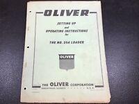 Original OE OEM Oliver Model 59A Loader Operators Manual S5-4-Y15-3 August 1959