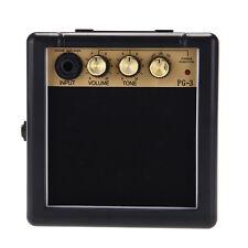 Mini Portable 3W Electric Guitar Amplifier Speaker Amp Black + Gold 12x12x6cm TS