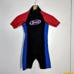 STEARNS 2.0 mm Wetsuit Shorty Wet Suit Youth Size  M neoprene black/blue/red
