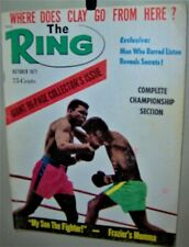 MUHAMMAD ALI The RING Magazine October 1971 JOE FRAZIER, SONNY LISTON COOL