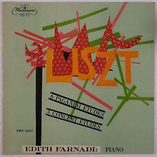 LISZT: 6 Paganini Etudes FARNADI Piano WESTMINSTER Vinyl LP XWN 18018 NM