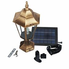 Large Elegant Outdoor Solar powered LED Garden Yard Pillar Light Lamp SL-8503