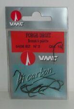 Hameçons VMC N°2 Forgé droit bronzé à palette par 10
