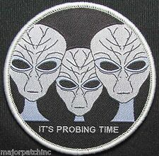 IT'S PROBING TIME ALIENS UFO ET SWAT BLACK OPS TACTICAL HOOK MORALE PATCH