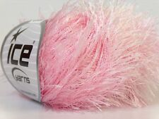 Baby Pink Eyelash Yarn Ice Pink Polyester Fun Fur 22765 50gram