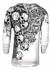Xtreme Couture by Affliction Mens Thermal T-Shirt Accuser Skull Biker Mma Gym