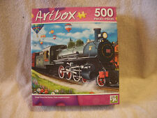 Steam Train At The Station 500 Piece Puzzle