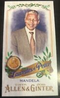 2016 Topps Allen and Ginter Mini Laureates of Peace Nelson Mandela