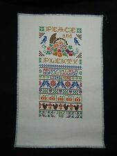 "Needle Point Vintage Sampler ""Peace and Plenty"""