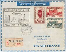 AIRMAIL 1st FLIGHT COVER - FRANCE / CANADA - Tunisia - AIR FRANCE 1950