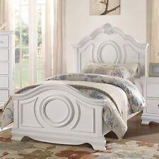 Fabulous Full White Finish Bed Bedroom Furniture