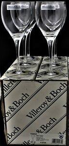Villeroy & Boch TORINO Crystal Stemware Claret Wine Glasses / Goblets. Set of 6