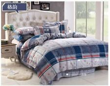 Classica Duvet Cover Set,Quilted Bedding Set With Pillow Case & Fitted Sheet 4pc
