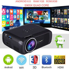 WiFi 4K 3D 1080P Android 6.0 7000Lumens LED Projector Home Theater Bluetooth 8GB
