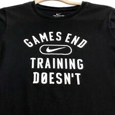 Nike Games End Training Doesn't T Shirt  Kid's ? XL Black White Crewneck
