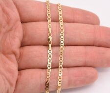 """10"""" Mariner Gucci Link Chain Bracelet Anklet Real Solid 10K Yellow Gold 3mm"""