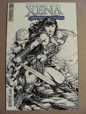 Xena Warrior Princess #1 Dynamite 2017 Series 1:25 B&W Variant 9.6 Near Mint+