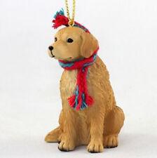 "LARGE 3"" GOLDEN RETRIEVER DOG CHRISTMAS ORNAMENT HOLIDAY Figurine Scarf  gift"