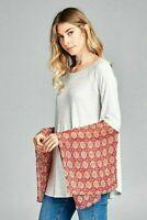 NWT Adorable Unique Boutique Brand Long Thermal Tunic Top S