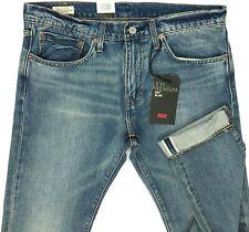 Levis Premium 511 Slim Stretch Selvedge Big E Blue Jeans Men Size 38x34
