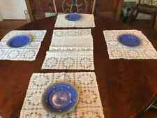 Antique collectible Ivory Leavers Lace 4 placemats 1 table runner Lovely