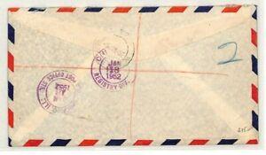 NORTHERN RHODESIA *Lusaka* Registered USA Chicago Air Mail 1952 {samwells} CG11