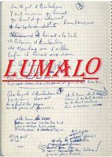 Jacques BREL 3 pages du fameux Cahier à spirale vert comprenant les 1er ecrit