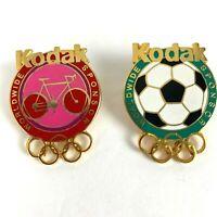 Vintage Olympic Pins 1996 Atlanta Soccer Football Sponsor Kodak