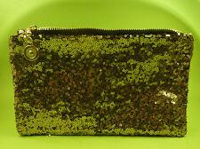 ❤️ Damen Tasche Handtasche Abend Party Clutch gold glitzer Pailletten NEU ❤️