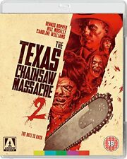 THE TEXAS CHAINSAW MASSACRE 2 Dennis Hopper BLURAY in Inglese NEW .cp