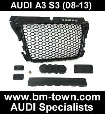 AUDI S3 8P 2008-2013 GLOSS BLACK HONEYCOMB RS RS3 FRONT GRILLE