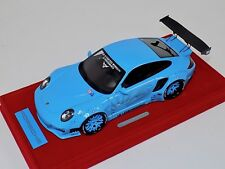 1/18 AB Models Porsche 911 Liberty walk LB Performance Baby Blue Decals 02G