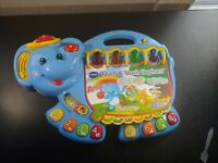 Vtech touch and teach blue elephant. Infant kids educational toy