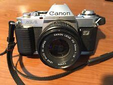 Canon Al-1 35mm Slr Film Camera w/ Quick Focus, Fd 50mm f/ 1.8, partially tested