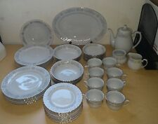 Blue and Pink Floral Made in China Set 45 Piece Set Plates Bowls Cups tea set 5c