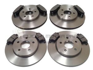 FOR JAGUAR X TYPE 2.2 DIESEL 2005-2009 FRONT & REAR BRAKE DISCS AND PADS SET NEW
