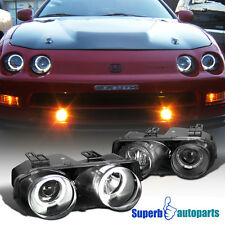 1994-1997 Acura Integra JDM Dual Halo Projector Headlights Black