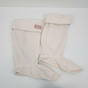 Hunter Original Tall Boot Liners Fleece Fold Down Cuff With Hunter Logo Size L
