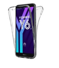 Coque Housse Etui Protection intégrale Transparent 360° Huawei y6 2018