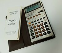 Vintage Calculated Industries Construction Master II Calculator w/ Case, Manual