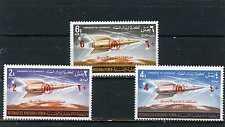 YEMEN KINGDOM 1967 Mi#377-379A SPACE SET OF 3 STAMPS OVERPRINTED MNH