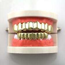 14K Hip Hop Premium Gold Plate Teeth Grillz With Bottom Set *BRAND NEW*